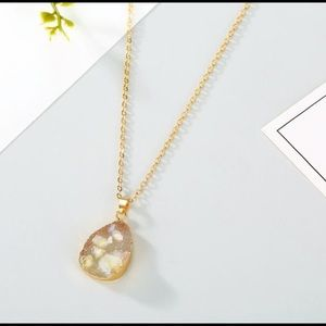 Jewelry - 3/$20 Yellow Water Drop Pendant Necklace